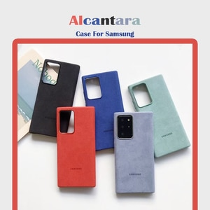 ONEVAN Italian Alcantara Case for Samsung Galaxy S20 Ultra S10 9 8 20+ Note20 10 Plus 5G Luxury Artificial Leather Phone Cases