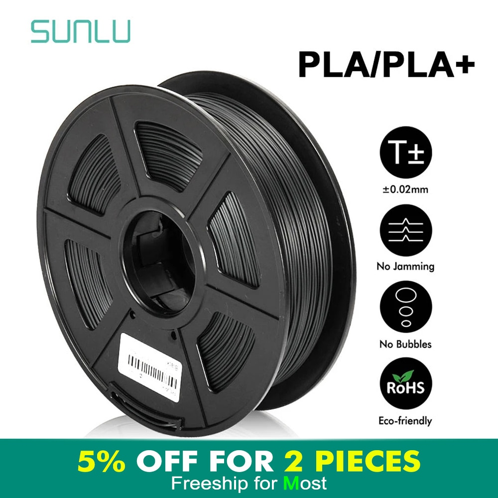 SUNLU PLA PLUS Filament 1.75mm 1kg 3D Printing Materials Multi-Colors For Choose PLA 3d Filament Fast Shipping