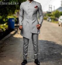 2020 New Design Custom Best Man Slim Fit Men Suits Blazer 2 Pieces Tuxedo Masculino Prom Costume Gray Black Yellow Green Purple