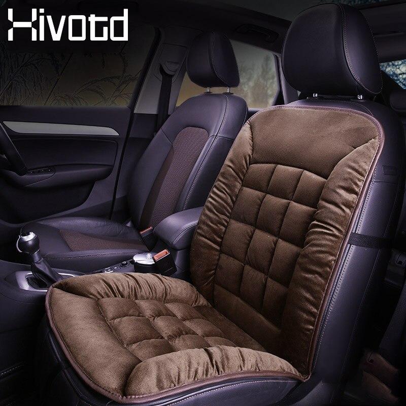 Hivotd, fundas de felpa para asiento de coche, piel de invierno, cojín cálido, asientos interiores de automóviles, alfombras, alfombrillas de protección, accesorios para automóviles 2019