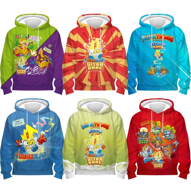 Детские толстовки с надписью Superthings, детские толстовки Kazoom для новорожденных с 3D принтом, Толстовки, Толстовки для маленьких мальчиков и дев...