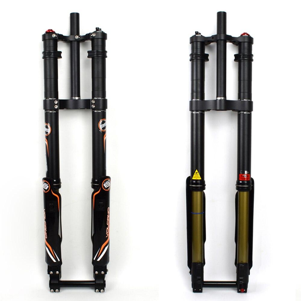 Dnm USD-8S profissional downhill bicicleta garfo dh bobina primavera garfo de ar ajustes preload rebote pressão ar ajustável