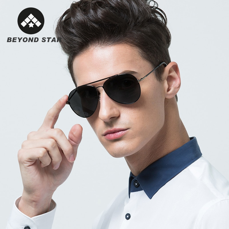 BEYONDSTAR, nuevas gafas de sol de piloto a la moda, gafas de sol polarizadas de Metal para hombre, gafas de sol para conducir UV400, gafas de sol G98158