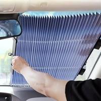 car retractable windshield anti uv car front window shade sun block auto rear window foldable curtain sunshade car accessories