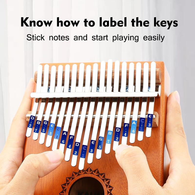 17 Keys Kalimba Thumb Piano African Instrument Mahogany Body Musical Instrument Professional Music Instrument Beginner Kalimba enlarge