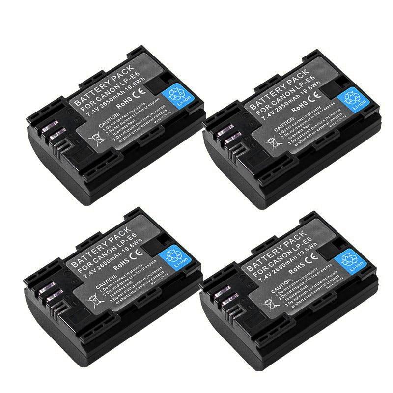 7,4 v 2650mah bateria LP-E6 LP-E6N LP E6 E6N Cámara batería para...