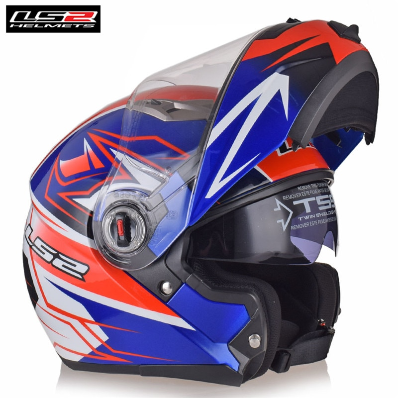 LS2 FF370-Casco Modular para motocicleta, Casco para carreras de cara completa, Casco para motocicleta, visera doble para Motor
