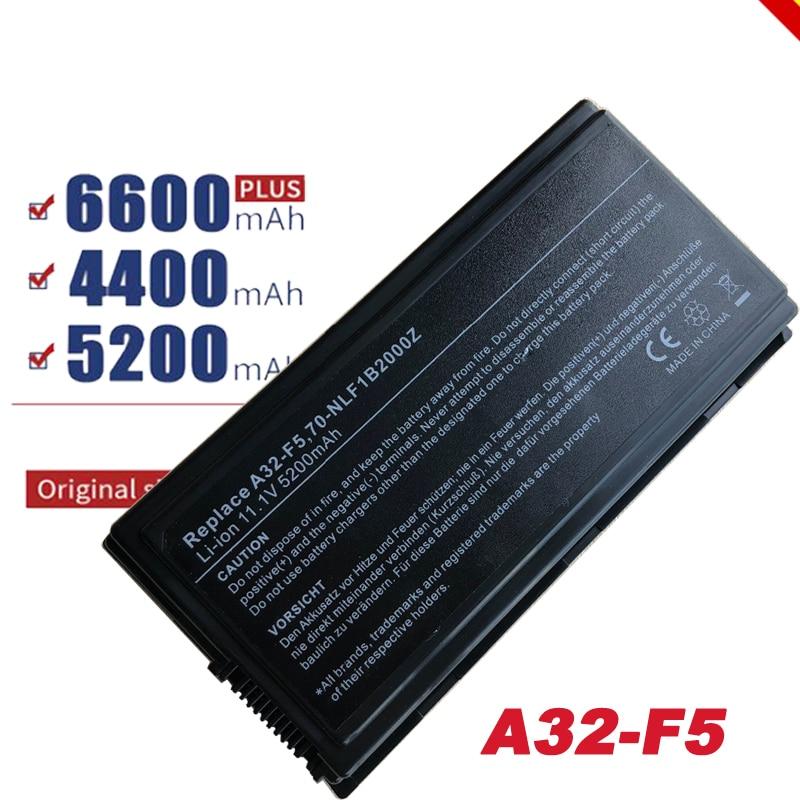 Batería Para ASUS X59 X59G X59GL X59S X59SL X59SR portátil A32-F5 5200mAh
