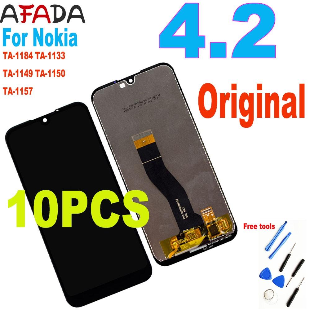 10 قطعة ل نوكيا 4.2 LCD عرض تا-1184 تا-1133 تا-1149 تا-1150 تا-1157 شاشة تعمل باللمس محول الأرقام الجمعية ل نوكيا 4.2 N4.2 LCD