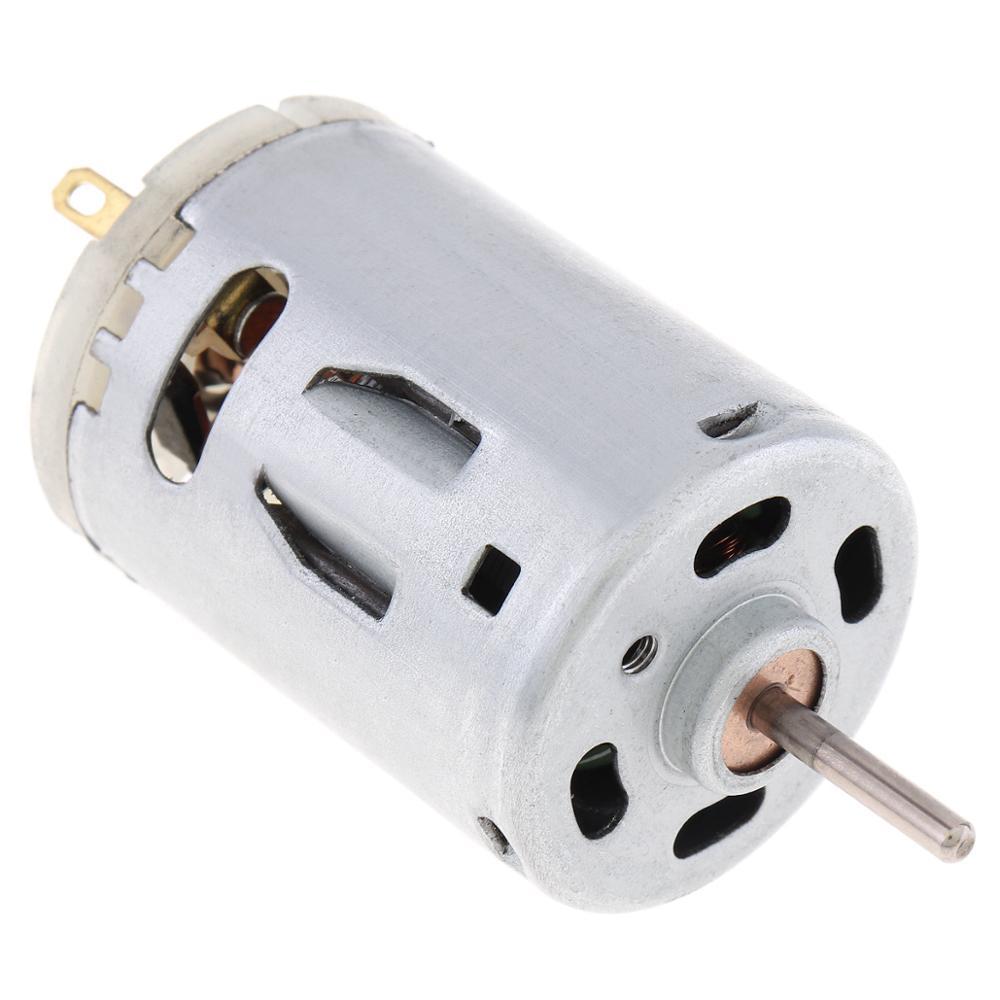 Купить с кэшбэком RS385 12V 3.9A 9800RPM DC Motor Remote Control Car Motor Electric Toy Motor Hair Dryer Motor with Carbon Brush ERS-385S-2270-57