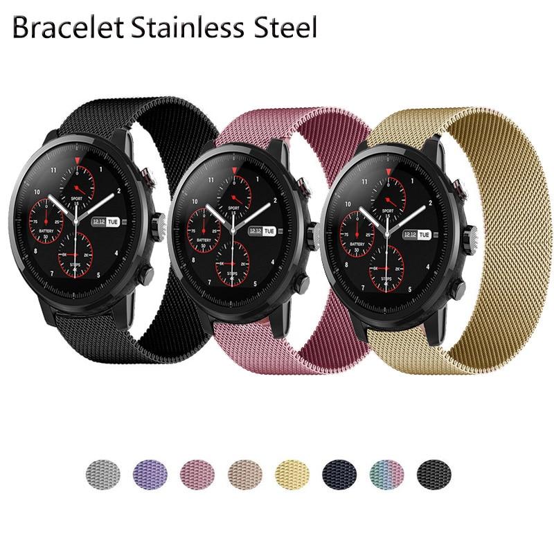 Correas de bucle magnético para Xiaomi Huami Amazfit Stratos 3/2/2S, pulsera de...