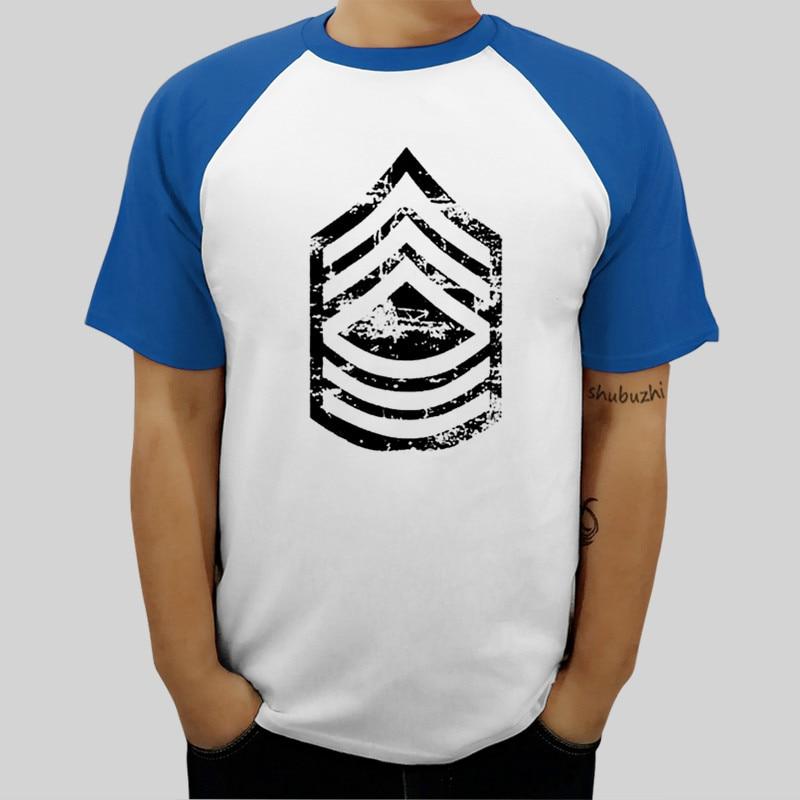 Envío de la gota de moda hombres camiseta T camisa Vintage E-8 sargento rango camiseta de veterano de 100% casual camiseta