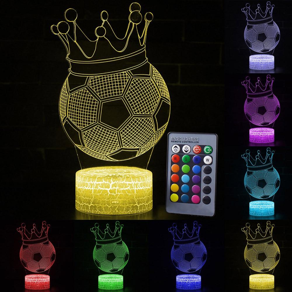 Novelty Lighting 3D Night Light Sport Ball Colorful USB LED Lamp For Christmas Birthday Gift Home Bedroom Decoration D30