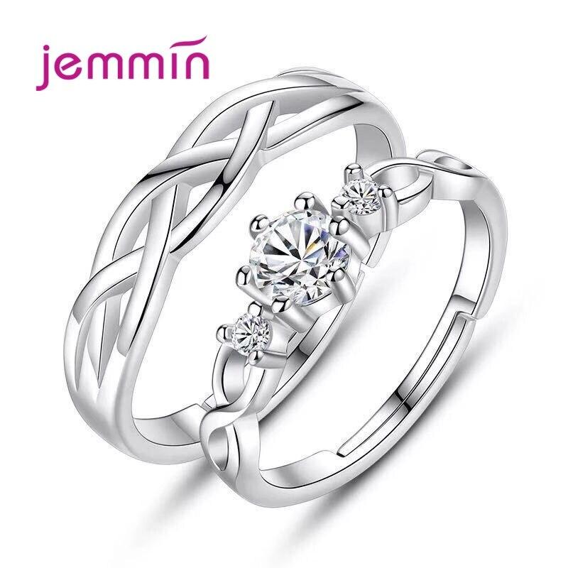 Новейшая-модель-925-Серебряные-кольца-для-женщин-женский-любимой-Регулировка-размера-Открытие-Кольца-для-влюбленных-украшения-Свадебные-об