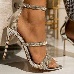 Western style ZL3019 Pointed rhinestone women's sandals,ladies heel sandals 2020, Sexy high heels,sandals,