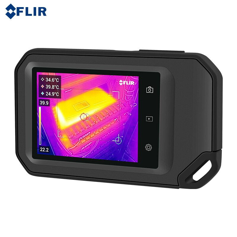 FLIR C3-X برو ThermaI تصوير ميزان الحرارة الأشعة تحت الحمراء كاميرا تصوير حراري بالأشعة تحت الحمراء فيديو شاشة كبيرة تعمل باللمس بكسل 128*96 مع واي فاي