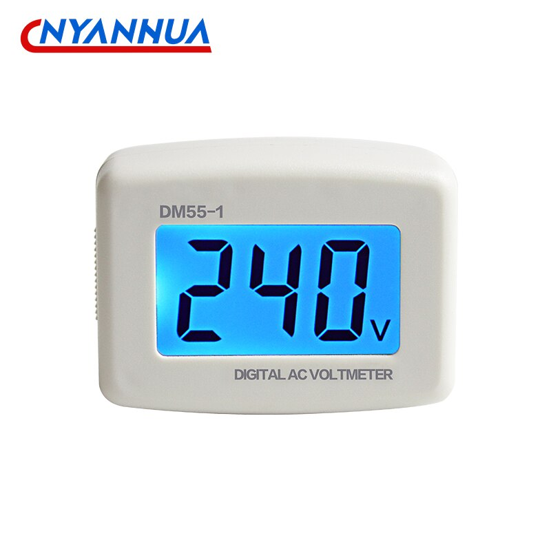 DM55-1 Электрический измеритель, бытовой ЖК цифровой дисплей AC переключатель вольтметра EU US вилка напряжение разъем измерителя AC110-300V