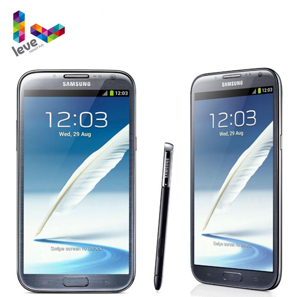 Original desbloqueado samsung galaxy note ii n7100 telefone móvel 2gb ram 16gb rom quad core 5.5 888mp 3g wcdma android smartphone
