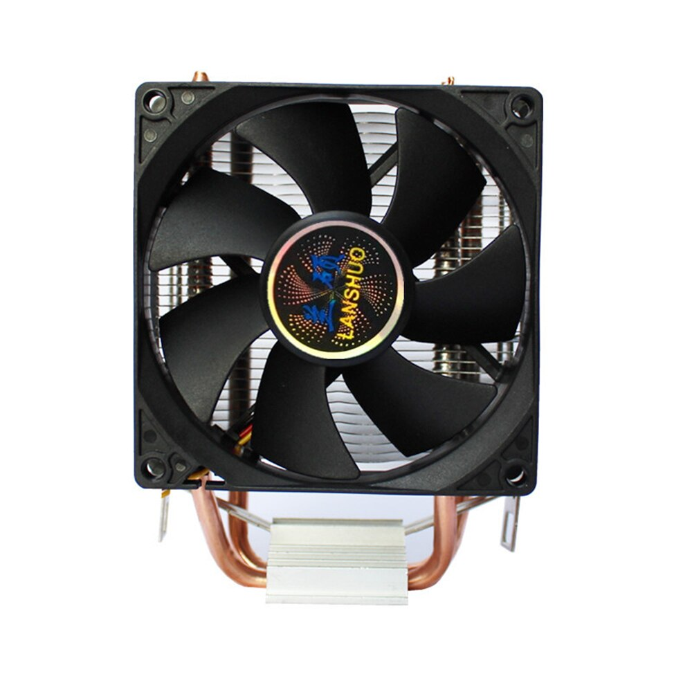 2 Heatpipes CPU Cooler 90mm Fan Radiator For intel LGA 775 1155 1156 AMD AM3 CPU Cooling fan
