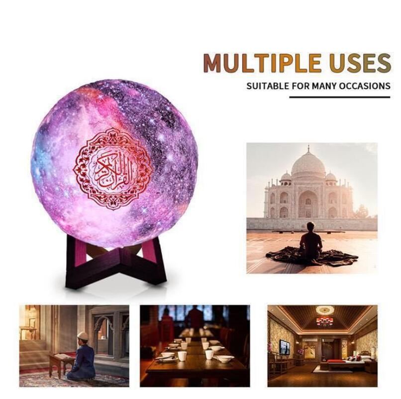FM Muslim Quran Koran Ramadan Full Chapter Bluetooth Speaker Moon Light Player Audio Outdoor Speakers