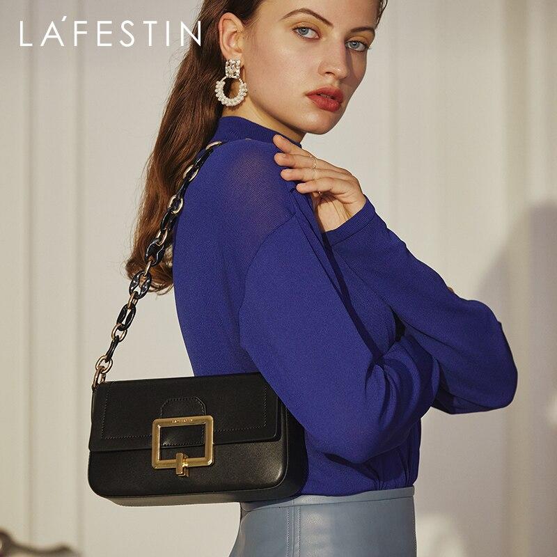 LA FESTIN مصمم حقيبة كتف 2021 جديد عصري نساء حقائب موضة جلد رسول تحت الإبط صندوق مربع صغير حقيبة الإناث
