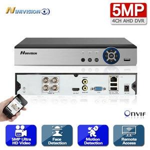 NINIVISION 4CH AHD DVR Recorder Full 5MP Surveillance Video Recorder H.265 4 Channel Digital Video Recorder For AHD IP Camera