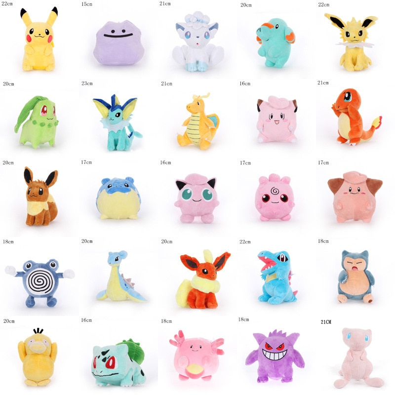 Kawaii Pokemon Pikachu Squirtle Charmander Gengar Bulbasaur Elf Psyduck Togepi набитая аниме плюшевая кукла игрушки Детский подарок