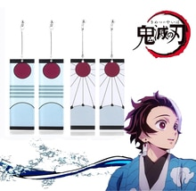 2020 heißer Ohrringe Dämon Slayer Kimetsu keine Yaiba Ohrringe Kamado Tanjirou Japanischen Cosplay Requisiten Ohr Bolzen Eardrops