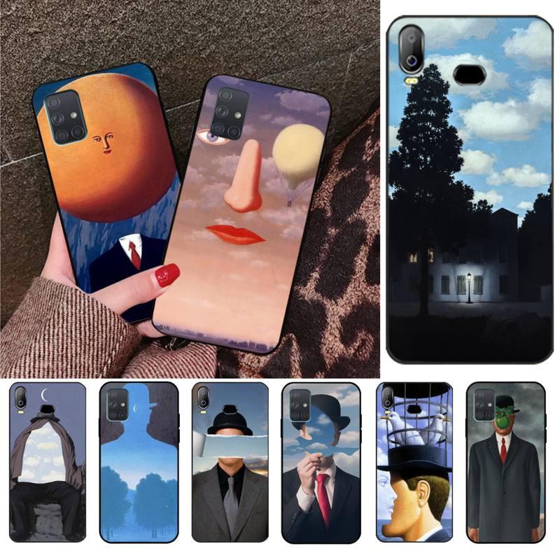 Rene Magritte Bling Caso Bonito Do Telefone Para Samsung A10 A20 A30 A40 A50 A70 A80 A71 A91 A51 A6 A8 2018