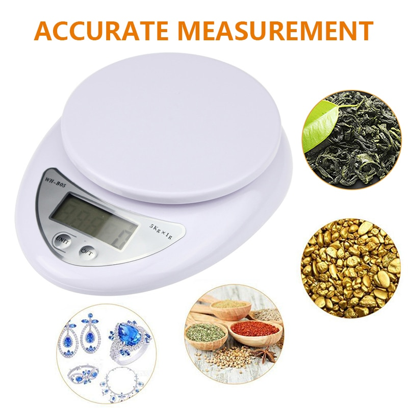 Portable 5kg Digital Scale LCD Electronic Scales Steelyard Kitchen Scales Postal Food Balance Measuring Weight Libra