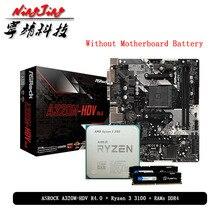 AMD Ryzen 3 R3 3100 CPU + ASROCK A320M carte mère HDV + Pumeitou DDR4 2666MHz RAMs costume Socket AM4 tout neuf mais sans refroidisseur