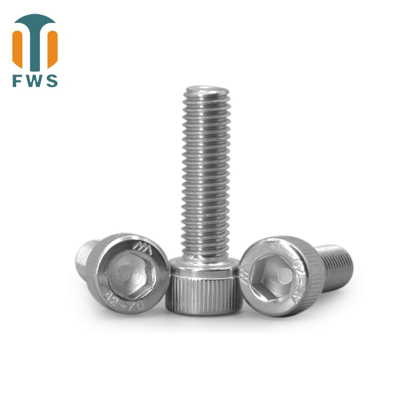 20/50/100 Pcs 304 DIN 912 M20 A2-70 Stainless Steel Hex Allen Socket Cap Head Screw Grade 12.9 Metric Screws L=40-150mm Screws