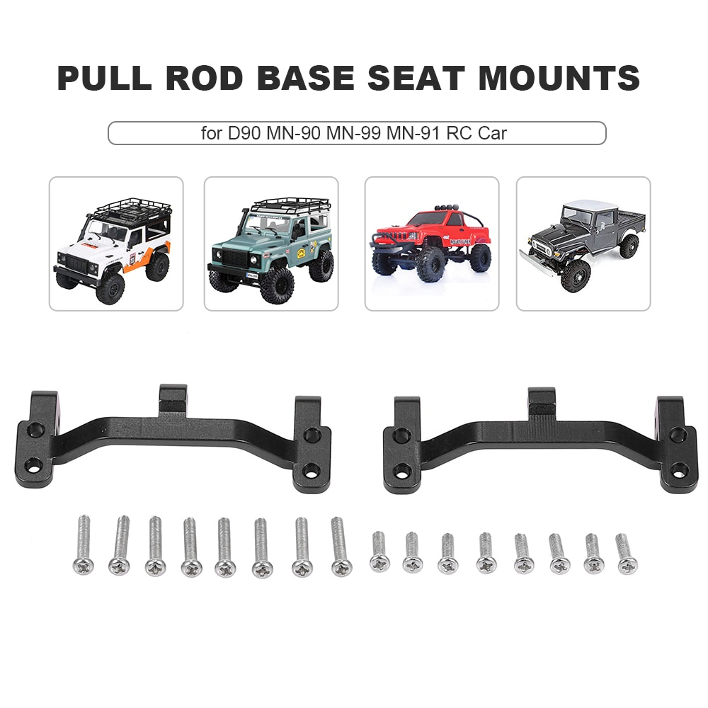 De aleación de aluminio de Rod Base asiento soportes para D90 MN-90 MN-99 MN-91 FJ-45 RC coche 1/12 Rock Crawler piezas de mejora