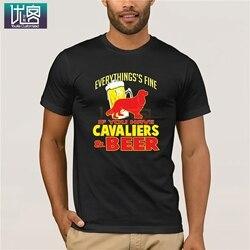 Se você tem cavalier rei charles spaniel & cerveja camiseta 2020 moda estilo retro camiseta manga curta vintage tripulação pescoço