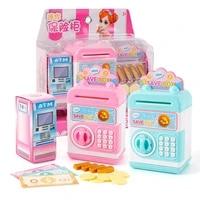 realistic mini atm piggy bank save box coin cash model children pretend play toy