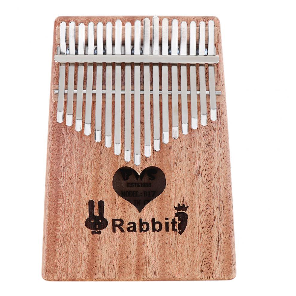 17 Key Kalimba Solid Mahogany Thumb Piano with Heart Sound Hole Mbira Natural Mini Keyboard Instrument Thumb Piano enlarge