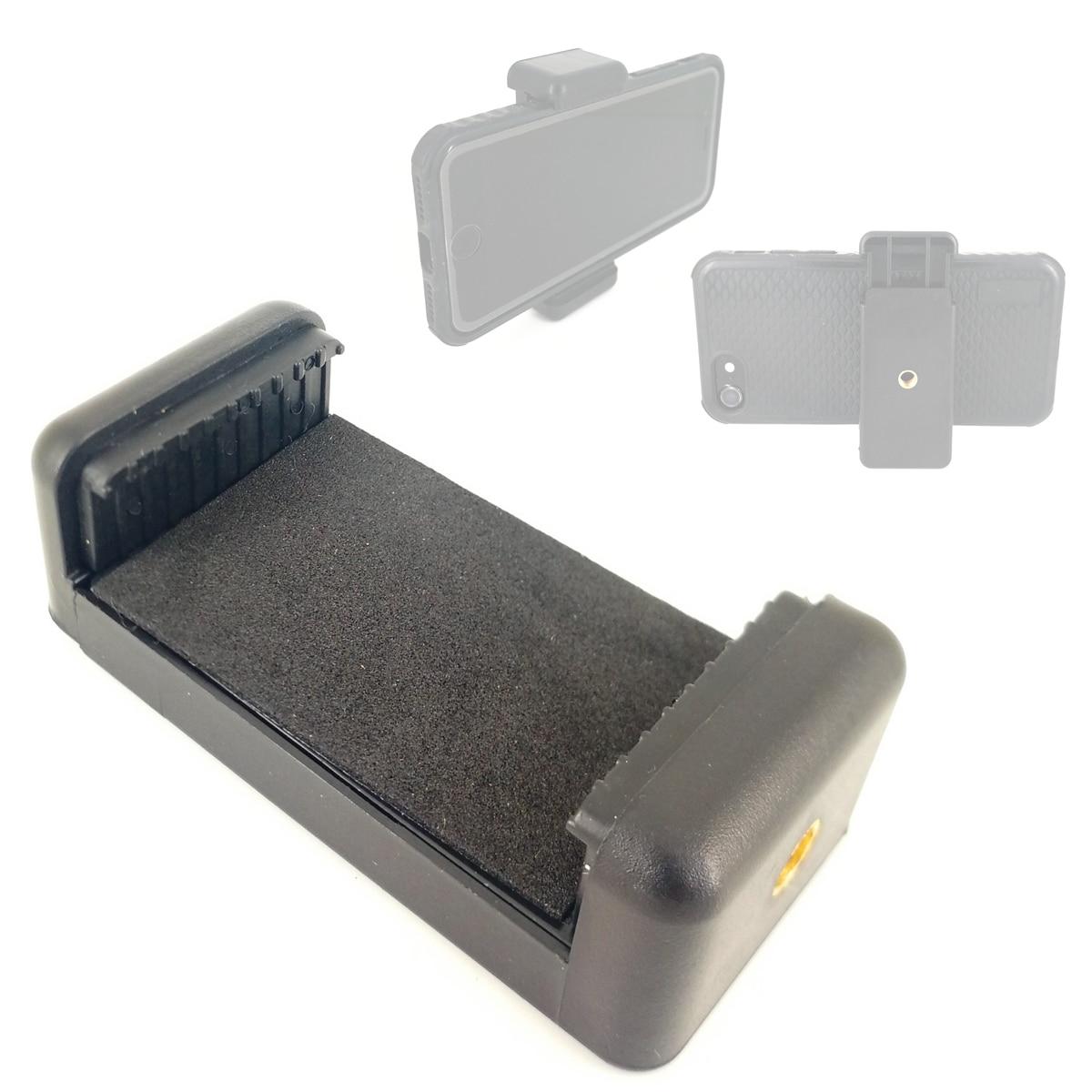 Adjustable Mobile Cell Phone Clamp Clip Holder Bracket Adapter for 5.5-8.3cm Smartphone Tripod Tiktok Youtube Livestream
