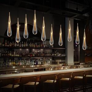 Nordic Crystal Led Pendant Lights Art Decoration Designer Pedant Lamps Hanging Lamp Bar Kitchen Living Room Dining Room Bedside