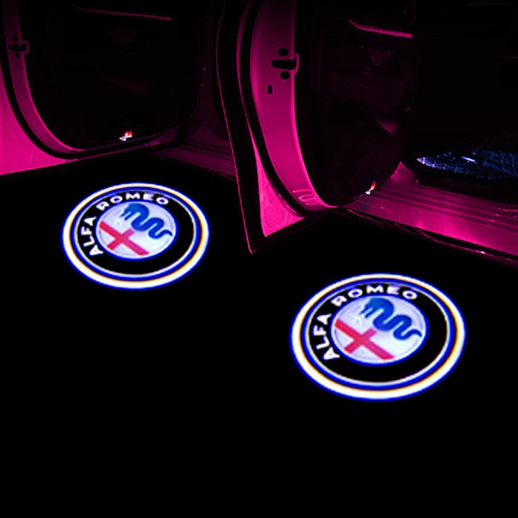 Luz de bienvenida para Alfa Romeo LED COCHE Luz de bienvenida para puerta Logo proyector Giulia Giulietta Mito Stelvio Brera 147 156 159 estilo