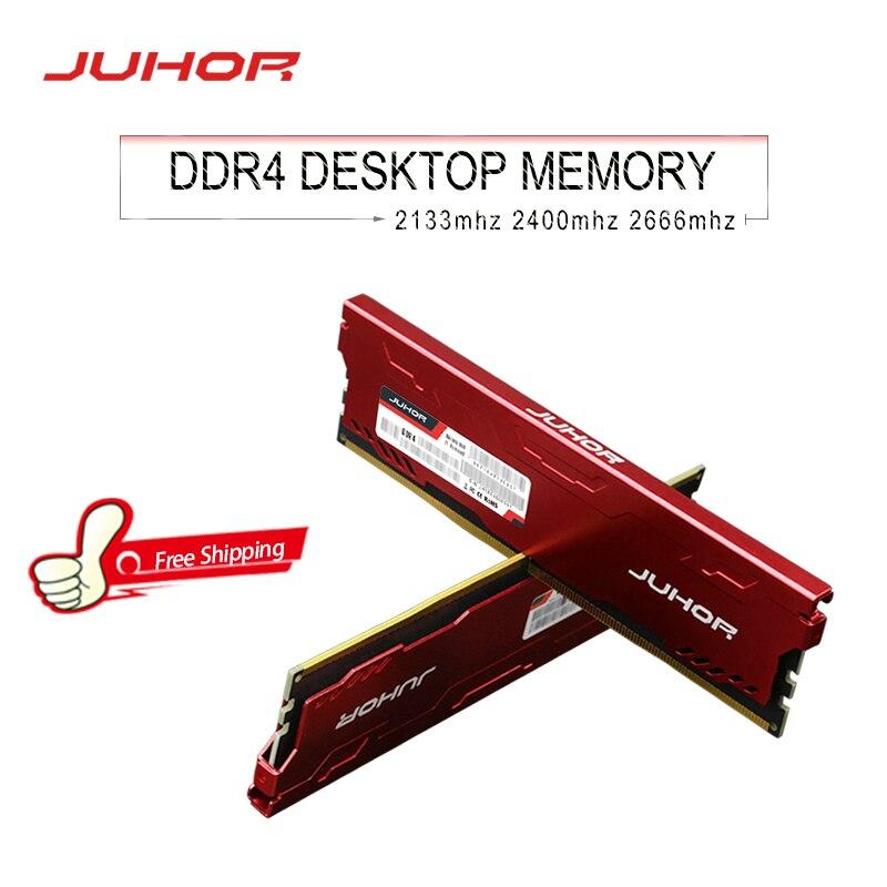 JUHOR-memoria ram ddr4 de 16GB, 4GB, 8GB, 32GB, udimm, 2133mhz, 2400mhz, 2666mhz,...