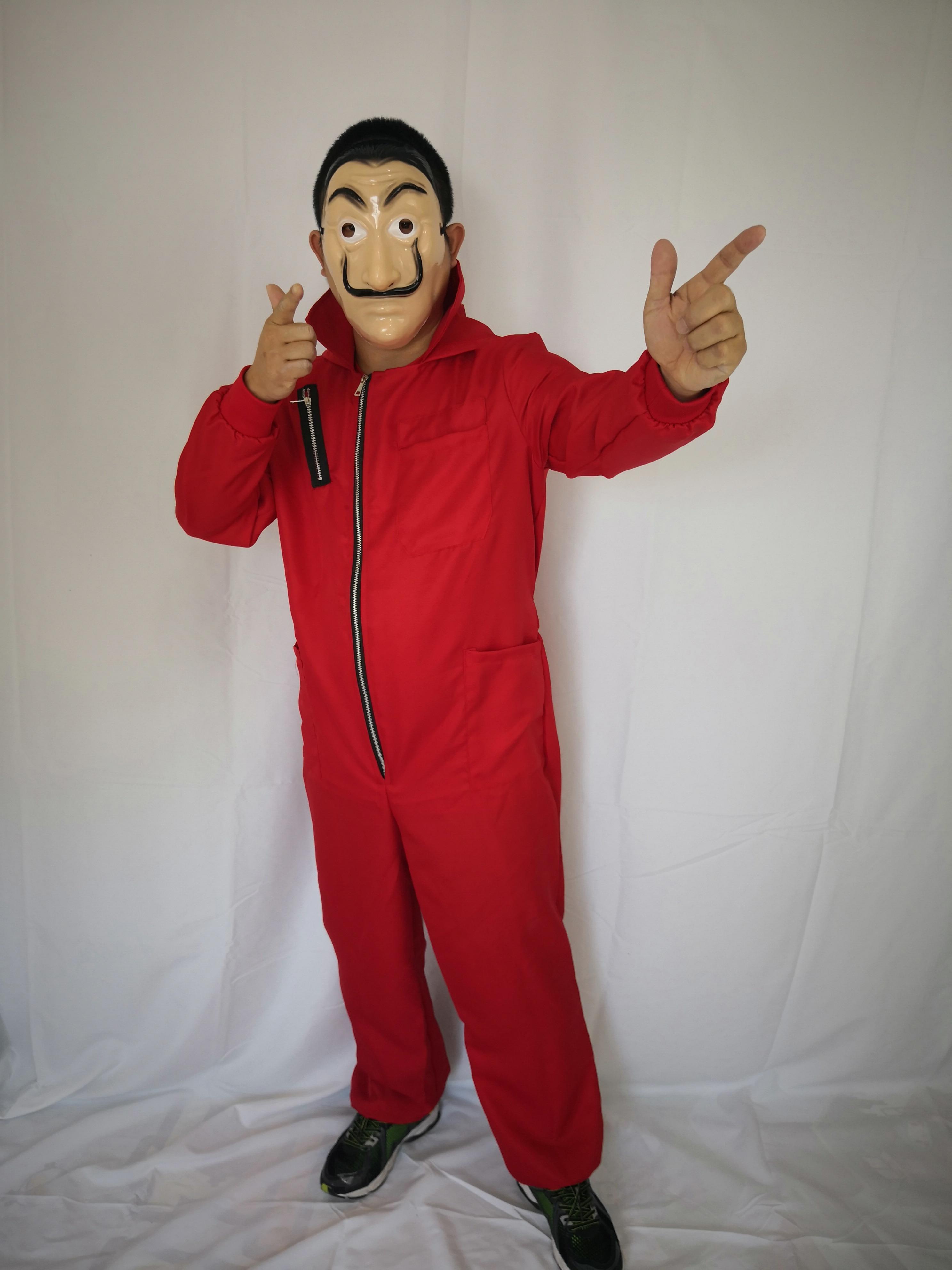 1pc comédia mestre la casa de papel dali máscara halloween masquerade cosplay acessórios engraçados