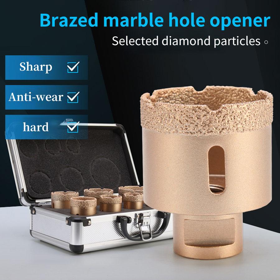 5/6PCS M14 Drill Bit Set For Granite Marble Ceramic Tile Glass Brazed Angle Diamond Thread Multifunctional Dry Vacuum Hole Saw
