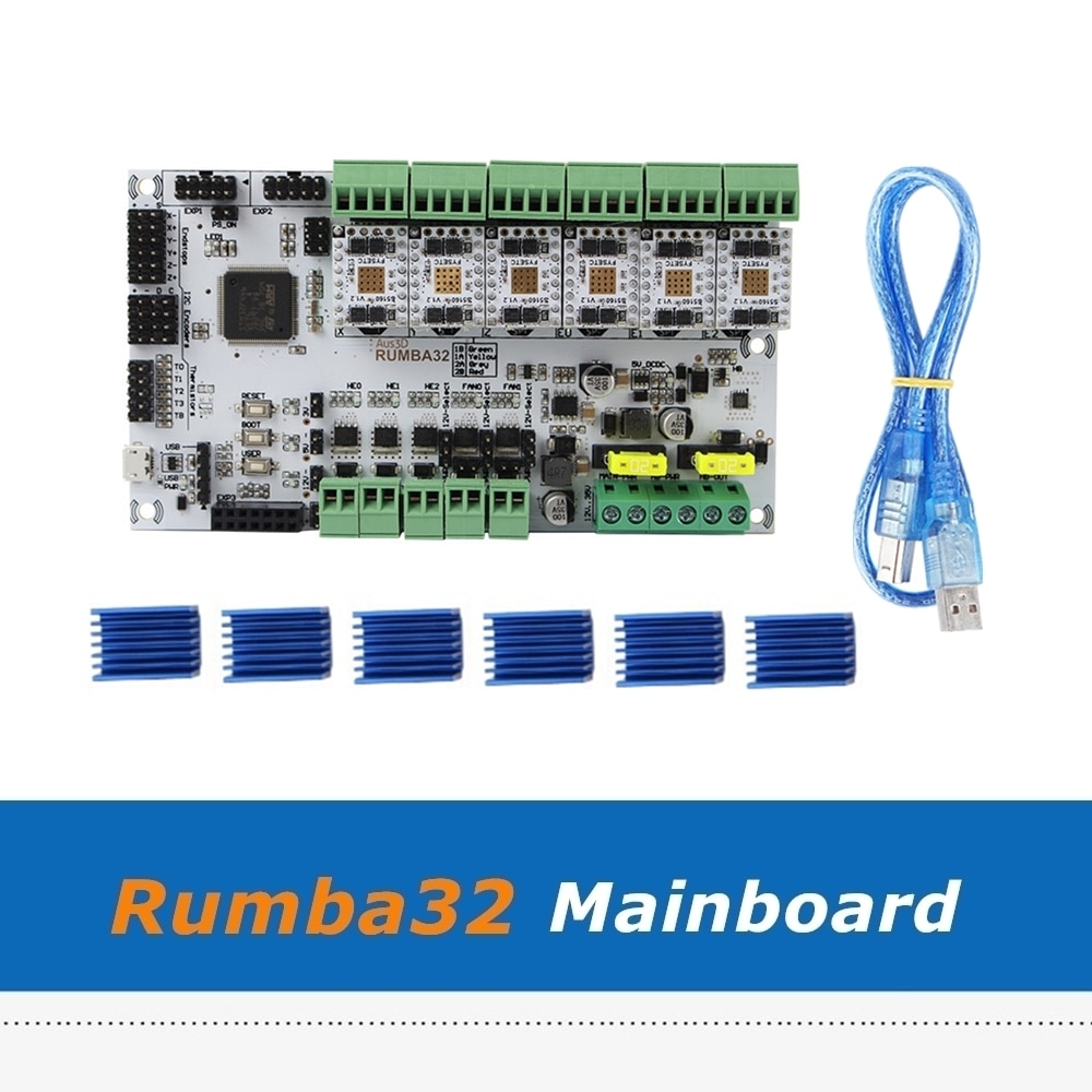 6 stücke TMC5160 Fahrer Modul + Rumba32 Rumba 32 Motherboard Kompatibel mit Marlin 2,0 32Bit Für 3D Drucker Teile Bord