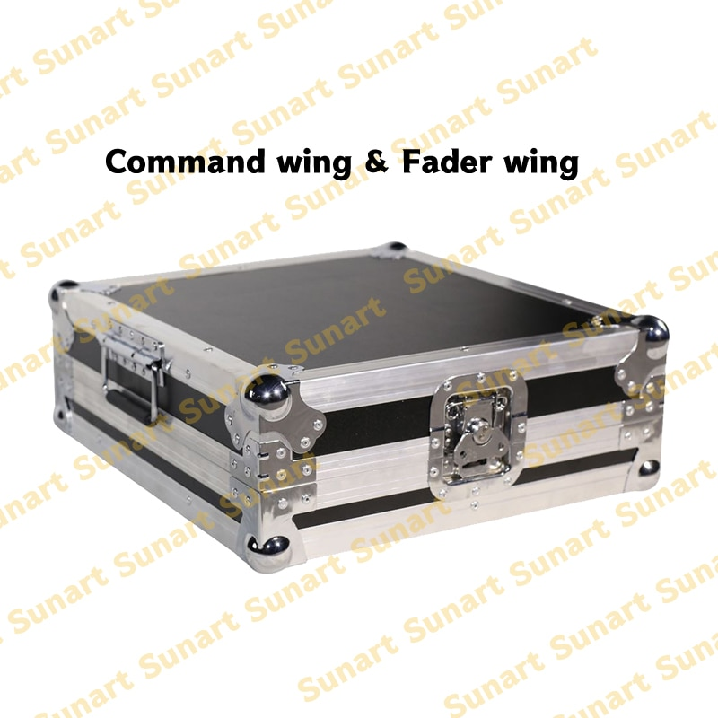 Free Shipping MA Fader And Command Wing Stage Effect Light Controller Console With Flight Case For DJ Disco
