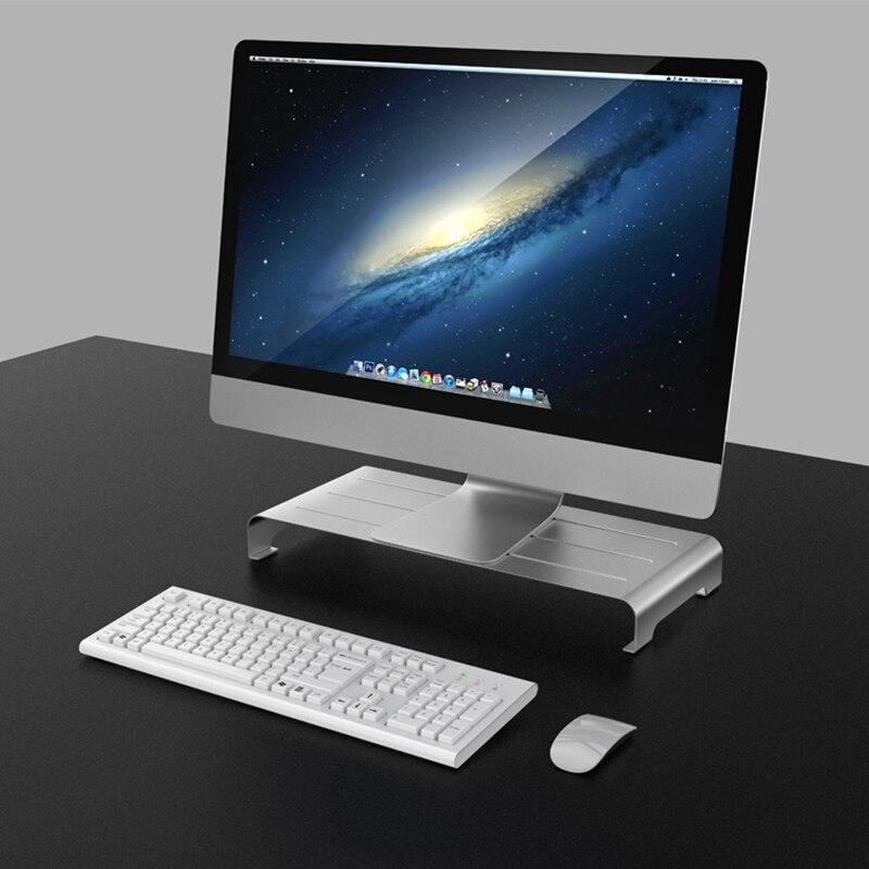 Liga de alumínio suporte para notebook suporte portátil suporte para macbook ar pro imac lapdesk computador monitor suporte montagem