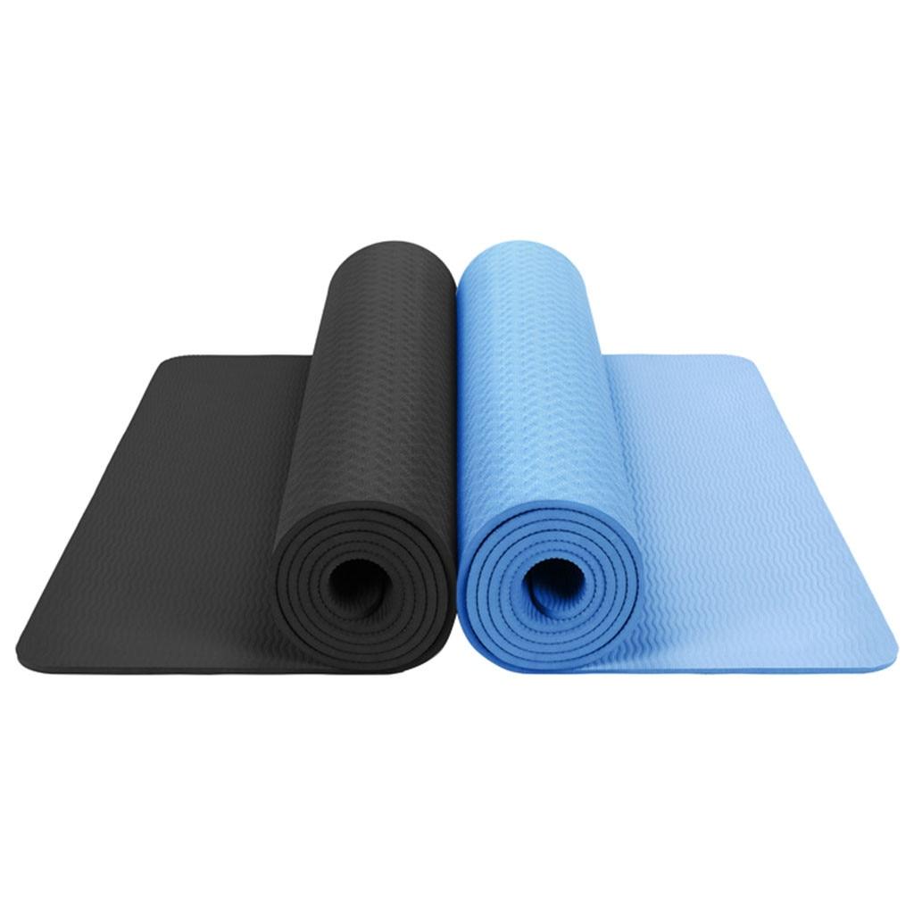 183*61*0,6 cm estera de la aptitud Yoga mat Classic Pro Yoga Mat TPE respetuoso con el medio ambiente antideslizante fitness insípido gimnasio ejercicio Yoga Mat