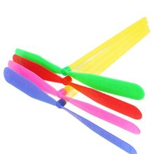 20pcs/lot Outdoor Toys Plastic Bamboo Dragonfly Propeller Classic Flying Fairy Saucer Sports Games G