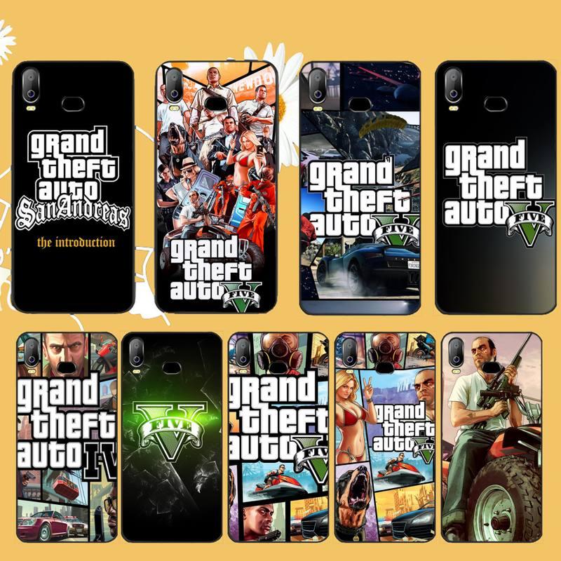 PENGHUWAN 5 rockstar gta Grand Theft DIY Caixa Do Telefone de Luxo Para Samsung A10 A20 A30 A40 A50 A70 A71 A51 A6 A8 2018