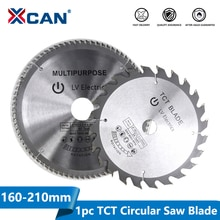 XCAN 1pc diámetro 160-210mm Mulitpurpose hoja de sierra Circular TCT madera disco de corte con punta de carburo de hoja de sierra para madera
