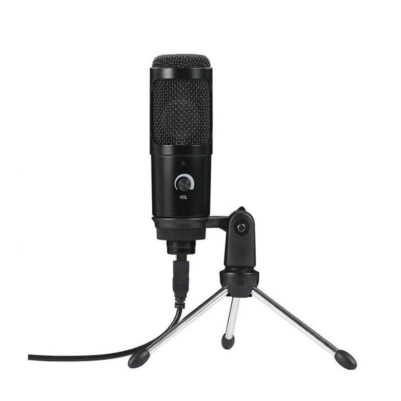 Профессиональные конденсаторные микрофоны USB для ПК, компьютера, ноутбука, для пения, игр, потоковой записи, студии, YouTube, видео, микрофон